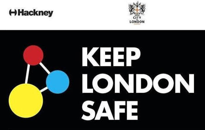 """Banner with the words """"Keep London Safe"""""""